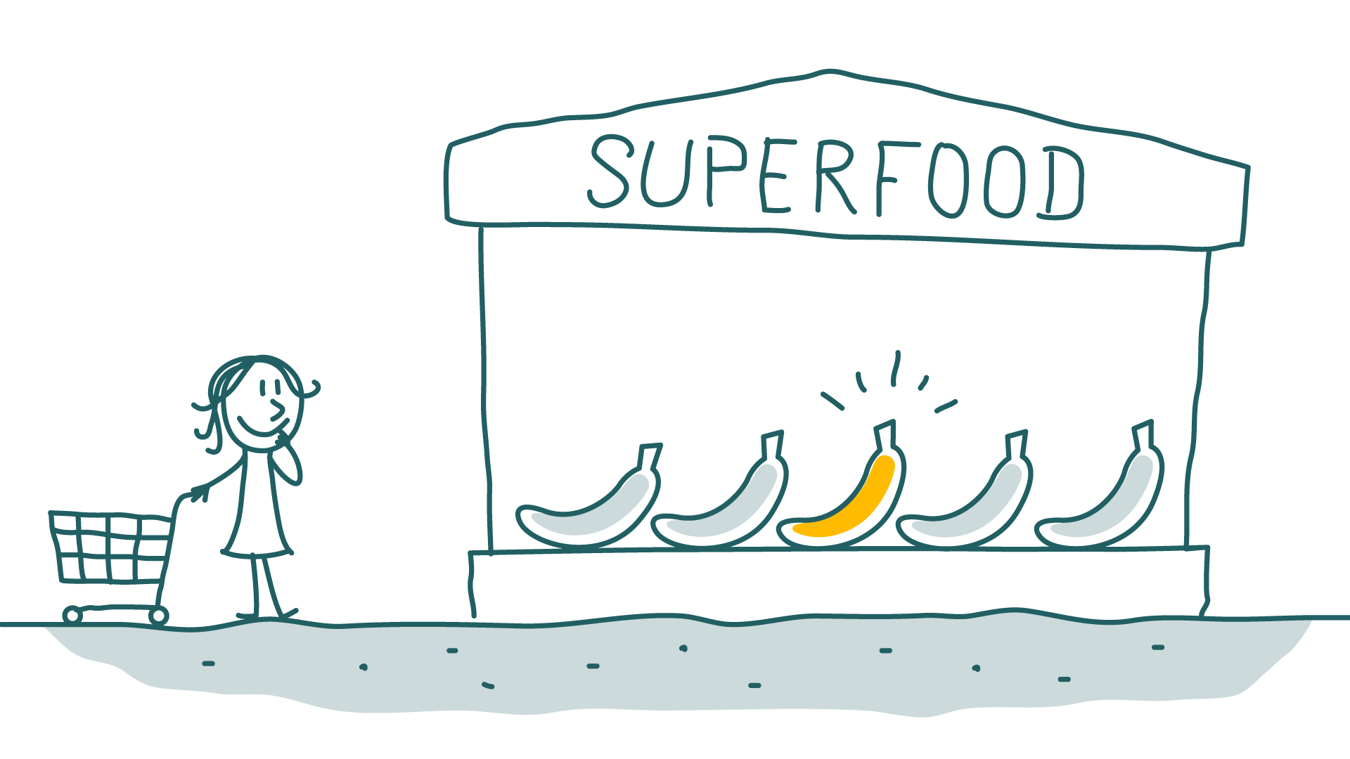 Woman wonders which superfood is really super and not only pretends to be super.
